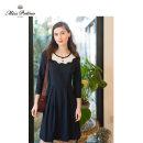 Dress Spring 2020 Dark blue XS S M L XL Middle-skirt elbow sleeve Others 25-29 years old Miss.Patina 20SS-DRS-23 51% (inclusive) - 70% (inclusive) nylon Polyamide fiber (nylon) 60% cotton 36% polyurethane elastic fiber (spandex) 4%