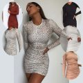 Dress Spring 2020 XS,S,M,L,XL,2XL Middle-skirt singleton  Long sleeves Crew neck 18-24 years old More than 95%