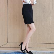 skirt Spring 2021 S M L XL 2XL 3XL 4XL 5XL Black dress Short skirt commute High waist Suit skirt Solid color 25-29 years old More than 95% Beijana / beijana polyester fiber Ol style Polyester 96.5% polyurethane elastic fiber (spandex) 3.5% Pure e-commerce (online only)