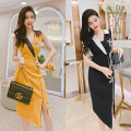 Dress Summer 2021 Yellow, black M,L,XL,2XL Mid length dress singleton  Sleeveless commute other High waist Solid color zipper One pace skirt other Others 25-29 years old Type H MISS FLY PERSONAL TAILOR Korean version Asymmetric, button, zipper L205217 31% (inclusive) - 50% (inclusive) other other