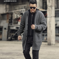 T-shirt / sweater Mixlimited / men's Club Fashion City Black, charcoal, coffee M, L thickening Cardigan V-neck Long sleeves J6008-2 winter easy leisure time tide Solid color Coarse wool (8, 6)