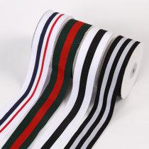 Ribbon / ribbon / cloth ribbon Navy Blue Stripe dark green big red stripe two white one black stripe three black two gray stripes