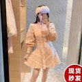 Dress Autumn 2020 Picture color S,M,L Short skirt singleton  Long sleeves commute stand collar High waist zipper A-line skirt bishop sleeve Others 25-29 years old Type A Other / other lady Gouhua hollow HF11501