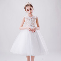Children's dress white female 80 90 100 110 120 130 140 150 customized, contact customer service! IVY BRIDE full dress TZ20200404 Class C polyester fiber Polyester 100% Summer 2020 princess