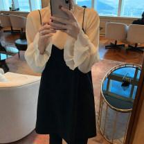 Fashion suit Spring 2021 Average size Shirt, suspender skirt