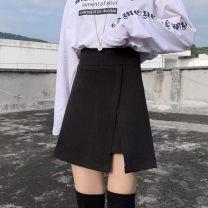 skirt Winter 2020 M,L,XL,2XL,3XL,4XL Short skirt commute High waist Irregular Solid color Type A 18-24 years old 31% (inclusive) - 50% (inclusive) Wool nylon zipper Korean version 401g / m ^ 2 (inclusive) - 500g / m ^ 2 (inclusive)