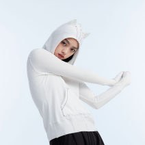 T-shirt S M L Winter 2020 Long sleeves Hood Self cultivation Regular routine commute polyester fiber 30% and below 25-29 years old literature literature Solid color UEOO Open line decoration Pure e-commerce (online only)