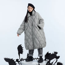 Down Jackets Winter 2020 UEOO Medium grey S M L White duck down 90% Medium length Long sleeves thickening Buckle other commute other Solid color 300g and above literature 25-29 years old 51% (inclusive) - 70% (inclusive) polyester fiber Pure e-commerce (online only)
