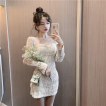 Dress Winter 2020 Picture color S, M Short skirt singleton  Long sleeves commute High waist A-line skirt 18-24 years old Type A Korean version 81% (inclusive) - 90% (inclusive)