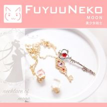 Cartoon watch / Necklace / Jewelry Over 3 years old Sailor Moon Chain / sweater chain Necklace goods in stock Little rabbit