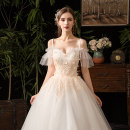 Wedding dress Autumn of 2019 Qidi wedding dress without accessories, Qidi wedding dress with three sets, Qidi wedding dress with eight sets Korean version Bandage Hotel Interior One shoulder Three dimensional cutting middle-waisted