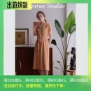 Dress Summer 2020 S_ In stock, M_ goods in stock Mid length dress singleton  Short sleeve commute other High waist Solid color Socket other routine Others 25-29 years old Type H Ran Ruo Retro More than 95% other other