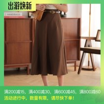 skirt Spring 2021 S_ In stock, M_ goods in stock Burnt fragrance high waist spiral skirt Mid length dress commute High waist Umbrella skirt Solid color Type A 25-29 years old RB21SS001 More than 95% other Ran Ruo polyester fiber Splicing Retro