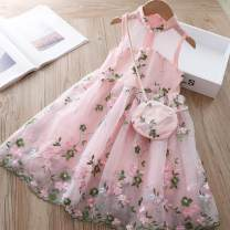 Dress Green bags, pink bags female Other / other 100cm,110cm,120cm,130cm,140cm,150cm,160cm,90cm Other 100% summer Korean version Skirt / vest Broken flowers cotton Lotus leaf edge Class A 2, 3, 4, 5, 6, 7, 8, 9, 10, 11, 12, 13, 14 years old