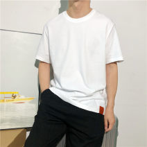 T-shirt Youth fashion Black, white, ginger, grey, lake blue routine M,L,XL,2XL,3XL Tagkita / she and others Short sleeve Crew neck easy daily summer Cotton 93.1% polyurethane elastic fiber (spandex) 6.9% youth routine like a breath of fresh air other 2021 washing
