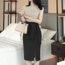 skirt Spring 2021 S,M,L,XL Black, apricot Mid length dress commute High waist skirt Solid color Type H 25-29 years old 81% (inclusive) - 90% (inclusive) other other Lace up, zipper, stitching Korean version 121g / m ^ 2 (including) - 140g / m ^ 2 (including)
