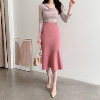 skirt Spring 2021 S,M,L,XL Pink, apricot, black Mid length dress commute High waist Ruffle Skirt Solid color Type A 25-29 years old 81% (inclusive) - 90% (inclusive) other other Korean version 161g / m ^ 2 (including) - 180g / m ^ 2 (including)