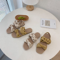 Sandals 35,36,37,38,39,40 Off white slippers, ginger slippers, off white sandals, ginger sandals PU The south is in the south Round head Flat bottom Low heel (1-3cm) Summer 2021 Trochanter Korean version Solid color Adhesive shoes Youth (18-40 years old) Composite bottom daily Roman style PU PU