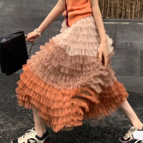 skirt Winter 2020 Xs, s, m, l, XL, s, m, l Gray, purple, haze blue, apricot orange, customize other length colors longuette commute High waist Cake skirt Solid color Type A 25-29 years old X145 31% (inclusive) - 50% (inclusive) other polyester fiber Splicing Korean version