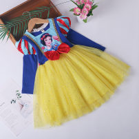 Dress female Other / other 100 recommended height 85-95110 recommended height 95-105120 recommended height 105-115130 recommended height 115-125140 recommended height 125-135 Cotton 95% other 5% spring and autumn princess Long sleeves Solid color cotton Pleats Class B