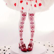 Socks / base socks / silk socks / leg socks female Knee socks White spot, black spot 200 pairs routine High tube spring Sweet Plants and flowers velvet Leg shaping Single side crotch
