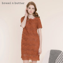 Dress Summer 2020 Amber P/160XS 0/165S 1/170M 2/175L Middle-skirt Short sleeve Sweet Crew neck 25-29 years old bread n butter More than 95% polyester fiber Polyester 100% Ruili Same model in shopping mall (sold online and offline)