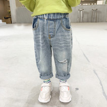 trousers Other / other male 90cm,100cm,110cm,120cm,130cm,140cm blue spring and autumn trousers Korean version There are models in the real shooting Jeans Leather belt middle-waisted Denim Open crotch 18 months, 2 years old, 3 years old, 4 years old, 5 years old, 6 years old, 7 years old Huzhou City