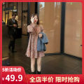 Women's large Autumn 2020 Single vest single Dress Vest + dress [suit] S M L XL 2XL 3XL 4XL Dress Two piece set commute easy moderate Socket Long sleeves Broken flowers Korean version other routine E9-21DYJQA778-A Yifengweier 18-24 years old Short skirt Polyester 100% Pure e-commerce (online only)
