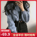 Women's large Spring 2021 Grey blue off white S M L XL 2XL 3XL 4XL sweater singleton  commute easy moderate Socket Long sleeves Solid color Korean version Crew neck routine 1-22CS0164 Yifengweier 18-24 years old New polyester fiber 42% viscose fiber 40% polyamide fiber 18%