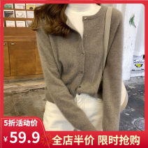 Women's large Winter 2020 Camel grey red black purple S M L XL 2XL 3XL sweater singleton  commute easy moderate Cardigan Long sleeves Solid color Korean version other have cash less than that is registered in the accounts routine CS0044 Yifengweier 18-24 years old Pure e-commerce (online only)