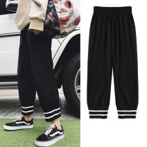 Women's large Spring 2020 Black [Korean girls wear sweet, salt and sweet. What's the fashion of this year? trousers singleton  Sweet easy thin Solid color V-neck Three dimensional cutting Flying sleeve YYF0111 Yifengweier 18-24 years old Other polyester 95% 5% Pure e-commerce (online only) shorts
