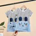Dress female Other / other 80cm,90cm,100cm,110cm,120cm,130cm Cotton 95% other 5% summer lady Short sleeve stripe cotton A-line skirt other 12 months, 6 months, 9 months, 18 months, 2 years old, 3 years old, 4 years old, 5 years old, 6 years old Chinese Mainland Guangdong Province Shenzhen City