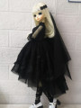 BJD doll zone Dress 1/4 Over 3 years old goods in stock Black skirt + headdress + Necklace 1 / 4BJD size