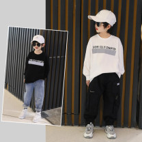 T-shirt White spot, black spot Fan mili Tag 110, tag 120 (model photo code), tag 130, tag 140, tag 150, tag 160, tag 170 male spring and autumn Long sleeves There are models in the real shooting cotton Solid color Cotton 90% other 10% 21c61729 Class B