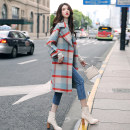 woolen coat Winter of 2019 S M L XL XS Plaid ordinary plaid with cotton thickening polyester 95% and above Medium length Long sleeves commute double-breasted routine tailored collar Straight cylinder A2210 Melina 30-34 years old Polyester 100% Pure e-commerce (online only)