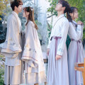 National Costume Other / other S,M,L,XL,3XL,XXL A large sleeve coat (gray), a with the whole set (top + skirt gray), B with the whole set (top + skirt), C with the men's suit (top + skirt), C with the women's suit (top + skirt) Hanfu 8043+8042 leisure time teenagers 2019 Plants and flowers