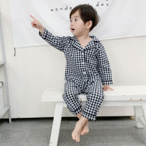 Home suit Other / other 80cm,90cm,100cm,110cm,120cm,130cm Black and white spring and autumn male keep warm cotton Class A