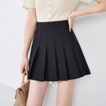 skirt Spring 2021 26 27 28 29 30 31 Black grey Short skirt commute High waist Pleated skirt Solid color Type A 25-29 years old XDQ20AS2071C 91% (inclusive) - 95% (inclusive) Xu Erji polyester fiber fold Polyester 93% polyurethane elastic fiber (spandex) 7% Pure e-commerce (online only)
