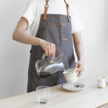 apron Grey, black, khaki Sleeveless apron antifouling Korean version canvas Personal washing / cleaning / care Average size wq345 Solid color