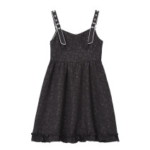 Dress Summer 2021 black S,M,L Mid length dress singleton  Sleeveless commute High waist Socket camisole 18-24 years old Type A 71% (inclusive) - 80% (inclusive) other other