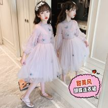 Dress Pink, beige female Other / other 110cm,120cm,130cm,140cm,150cm,160cm Other 100% spring and autumn leisure time Solid color other A-line skirt