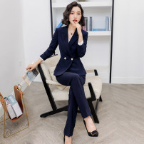 Professional pants suit S M L XL XXL Autumn of 2019 Coat other styles Long sleeves trousers Shiluya 25-35 years old Polyester 95% polyurethane elastic fiber (spandex) 5% Pure e-commerce (online only)