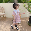 Dress Pink female Other / other 80cm,90cm,100cm,110cm,120cm,130cm Cotton 90% other 10% summer lady Short sleeve Dot cotton Lotus leaf edge Class B 18 months, 2 years old, 3 years old, 4 years old, 5 years old, 6 years old Chinese Mainland Zhejiang Province Huzhou City
