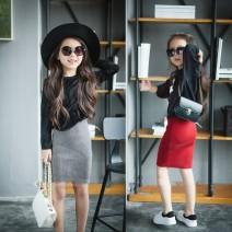skirt 80cm-XS 90cm-S 100cm-M 110cm-L 120cm-XL 130cm-XXL 140cm-3XL Piglet Nafu female Cotton 100.00% No season skirt Korean version stripe other cotton Class B Winter of 2019
