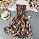 Dress Winter 2020 Decor 1, decor 2, decor 3, decor 4, decor 5, decor 6, decor 7, decor 8, decor 9 Average size longuette singleton  Short sleeve commute One word collar High waist Decor Socket Big swing routine 25-29 years old Type A printing 81% (inclusive) - 90% (inclusive) other