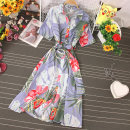 Dress Autumn 2020 Light purple, precious blue, blue, green, pink, yellow, white, sky blue, orange red, jujube red Average size Mid length dress singleton  Long sleeves commute Crew neck High waist Decor Single breasted A-line skirt routine Others 18-24 years old Type A Korean version