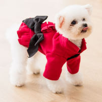 Pet clothing / raincoat currency cotton-padded clothes XS S M L XL XXL Hipidog / Hippie princess Red and black 1804SXSL2797-7