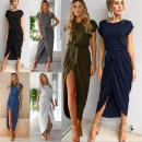 Dress Spring of 2018 Dark gray, color blue XS,S,M,L,XL,2XL,3XL Miniskirt singleton  Short sleeve Sweet