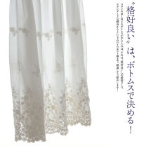 skirt Summer 2021 Average size Light and white longuette Sweet A-line skirt Solid color Type A 25-29 years old More than 95% NATULAN / Natulan cotton Lace