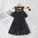 one piece  other S [recommended 80-90 kg], m [recommended 90-100 kg], l [recommended 100-110 kg], XL [recommended 110-120 kg] Black 6835 Skirt one piece With chest pad without steel support Polyester, others female Sleeveless Casual swimsuit Solid color